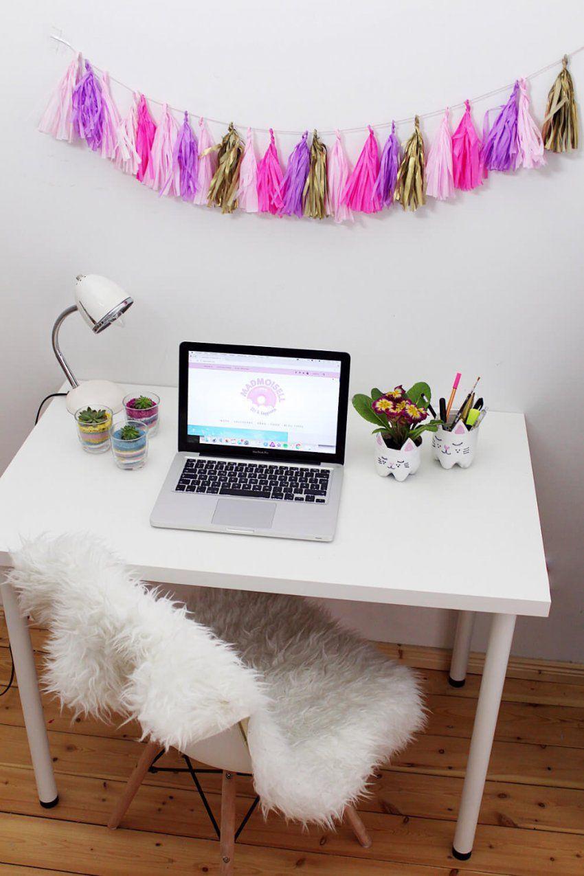 Diy Party Girlande Aus Seidenpapier Selber Machen + Schreibtisch von Schreibtisch Deko Selber Machen Photo