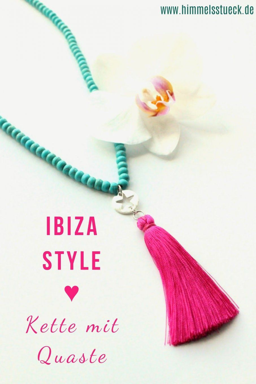 Diy Quastenkette Tasselkette Ibiza Style Boho Ethno Selbst von Lange Kette Mit Quaste Photo