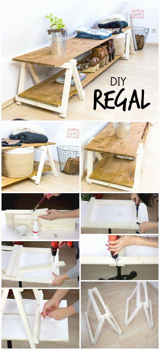 Diy Regal Regal Bauen Mit Mini Klappböcken  Selber Machen Regal von Design Möbel Selber Bauen Bild