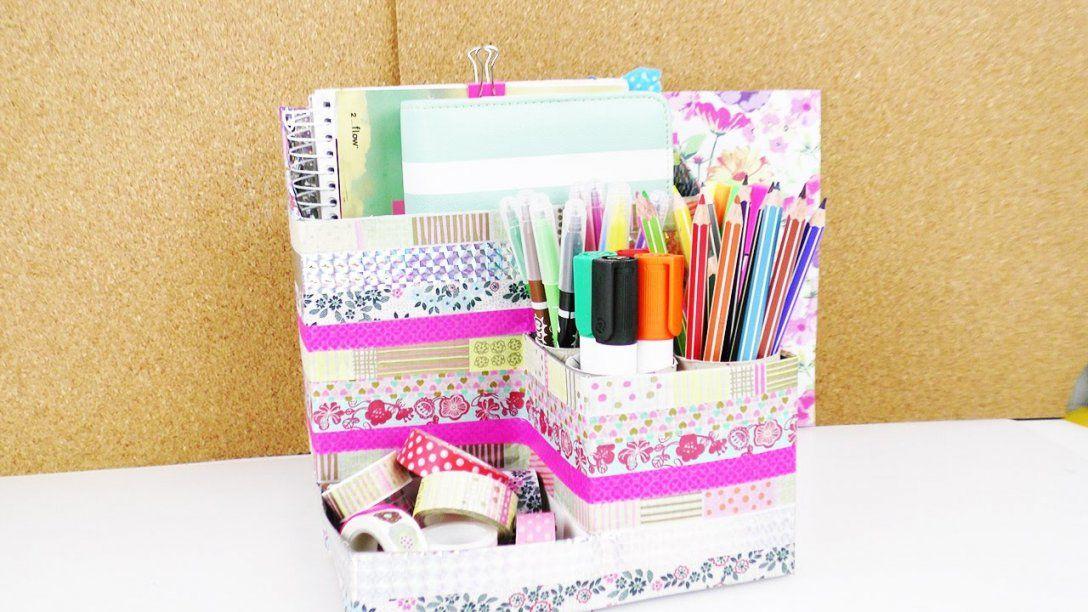 Diy Schreibtisch Aufbewahrung Selber Machen  Aus Alten Verpackungen von Schreibtisch Organizer Selber Machen Bild