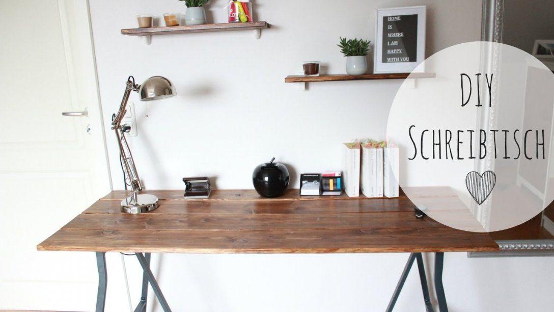 Diy Schreibtisch Rustikal  Schreibtisch Günstig Selber Bauen von Rustikale Möbel Selber Bauen Photo