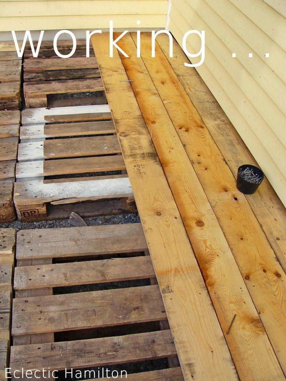 Diy Terrasse Aus Europaletten Vol1  Haus  Pinterest  Diy von Terrasse Aus Paletten Bauen Photo