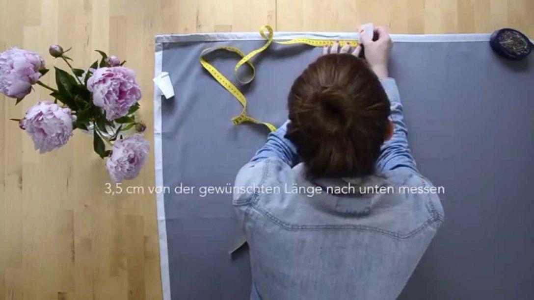 Diy Vorhang Kürzen  Youtube von Gardinen Kürzen Ohne Nähen Photo