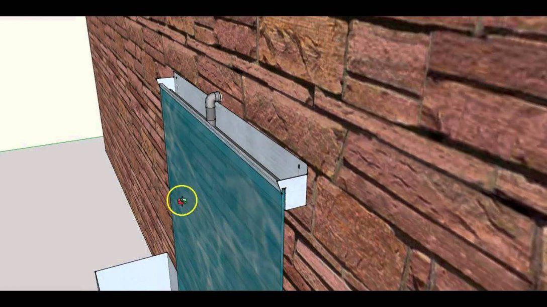 Diy Wasserwand Wasserfall Zimmerbrunnen Selber Bauen  Bauanleitung von Wasserwand Garten Selber Bauen Photo