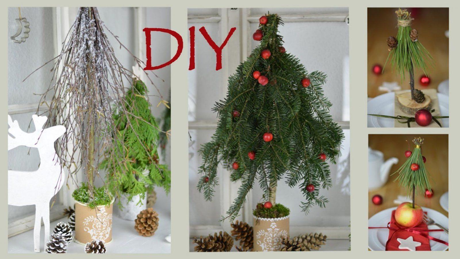 Diy  Weihnachtsdeko Selber Machen  Bäume Aus Zweigen Und Ästen I von Weihnachtsdeko Draußen Selber Machen Photo