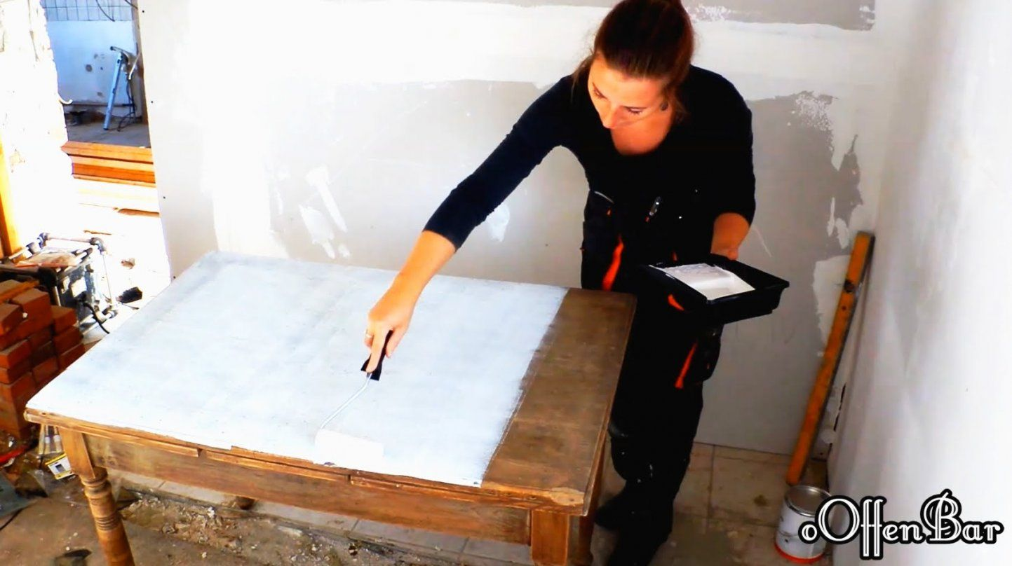 Diyalten Esstisch Neu Aufbereiten Zum Schreibtischshabby Chic von Alten Tisch Neu Gestalten Bild
