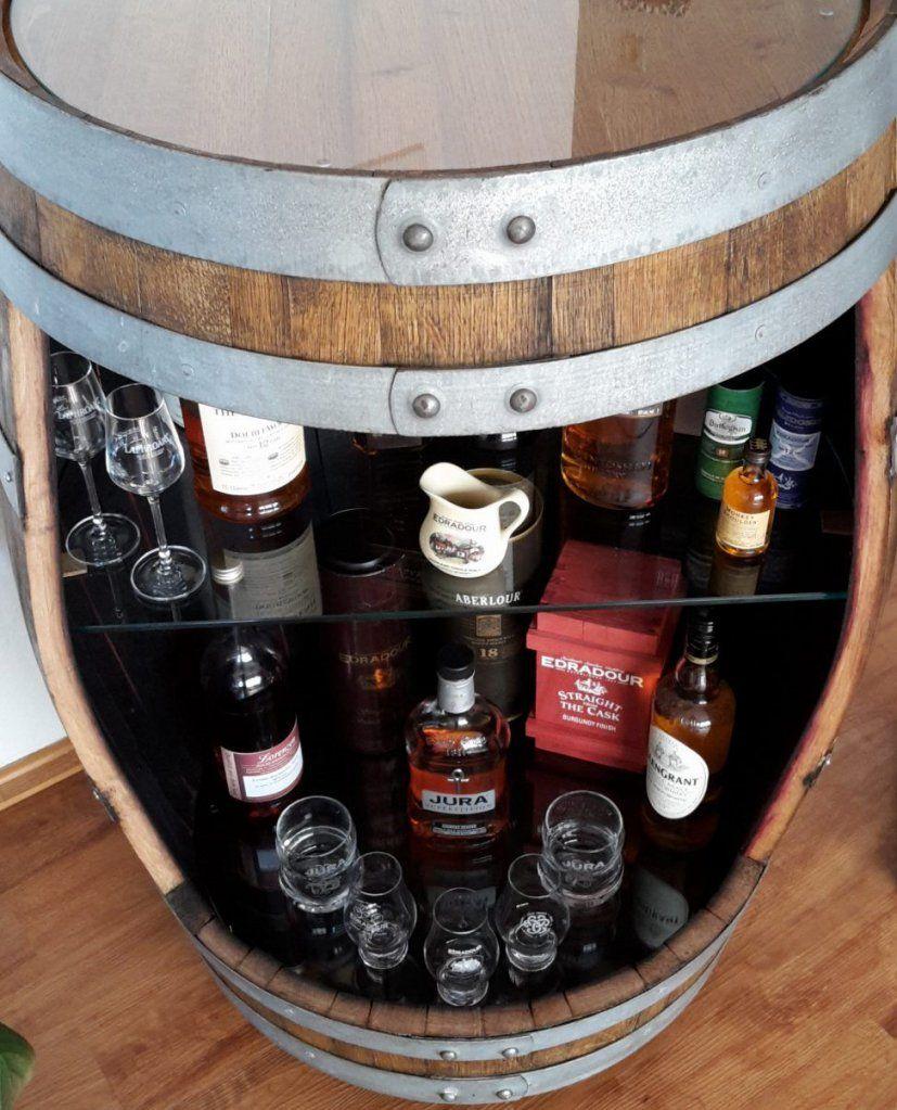 Do It Yourself Whiskybar Aus Einem Alten Weinfass Eine Bar Bauen von Weinfass Bar Selber Bauen Photo