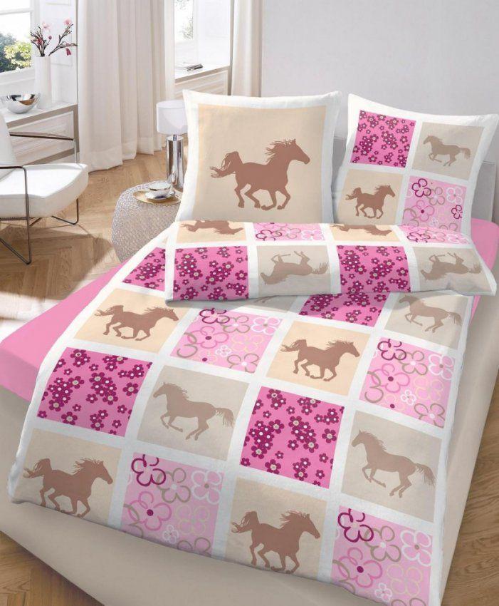Dobnig Bettwäsche 135X200 Cm Pferd Und Blümchen 47757 Baumwolle von Blümchen Bettwäsche Rosa Photo