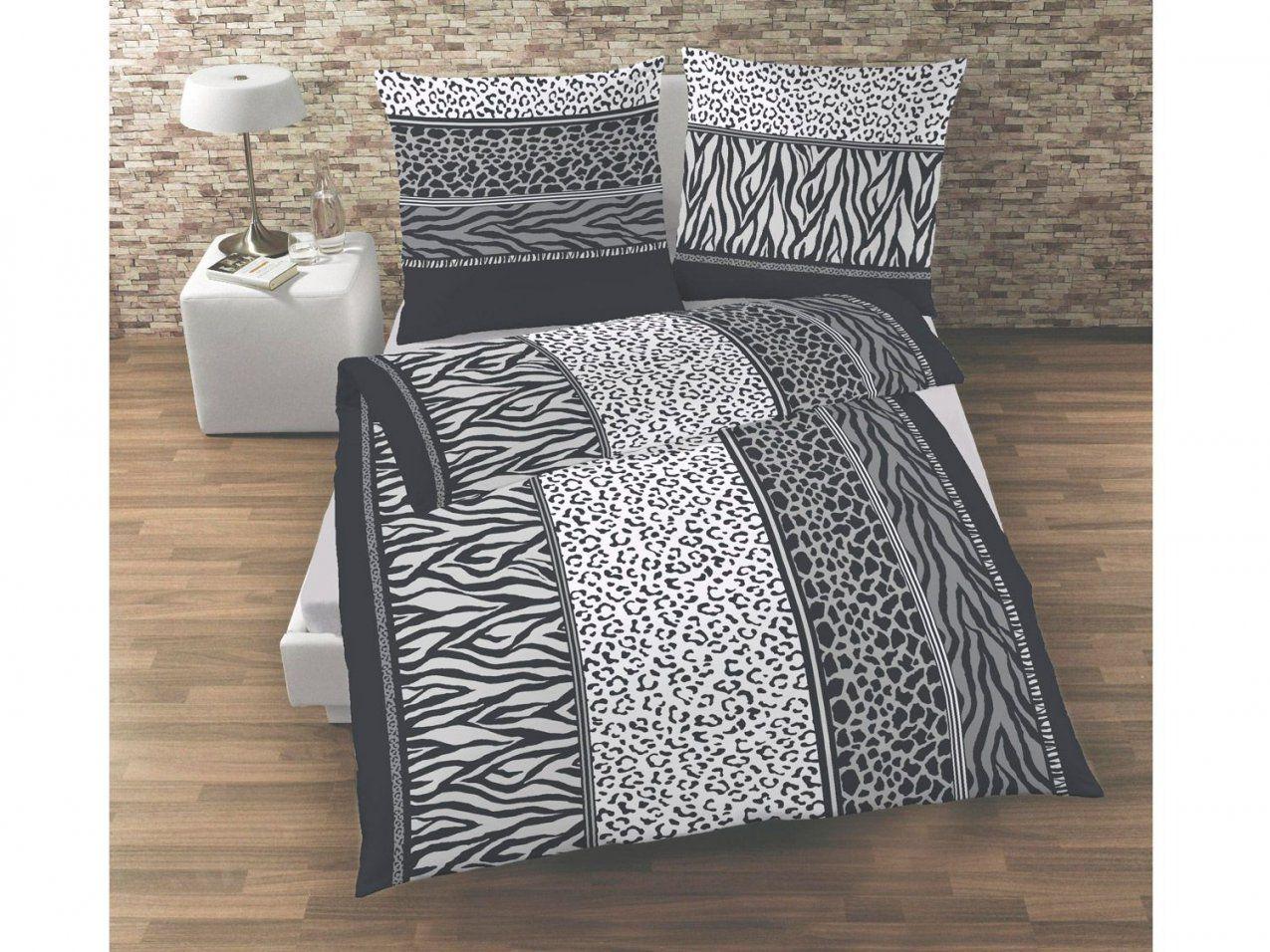 Dobnig Biberbettwäsche Zebradesign 135 X 200 Cm  Lidl von Feinbiber Bettwäsche Lidl Bild