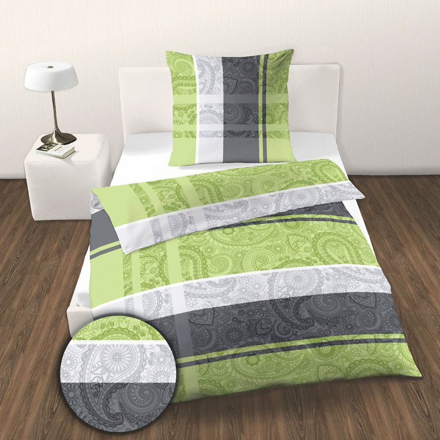 Dobnig Renforcé Bettwäsche Ornamente Grün Günstig Online Kaufen Bei von Bettwäsche Junge Leute Photo