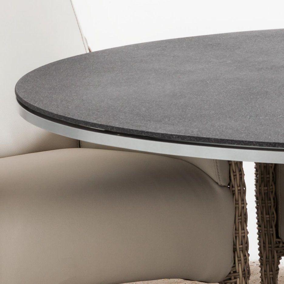Domus Ventures Palm Tisch Ø150 Cm Aluminiumstonetec  Garten & Freizeit von Gartentisch Rund 150 Cm Bild