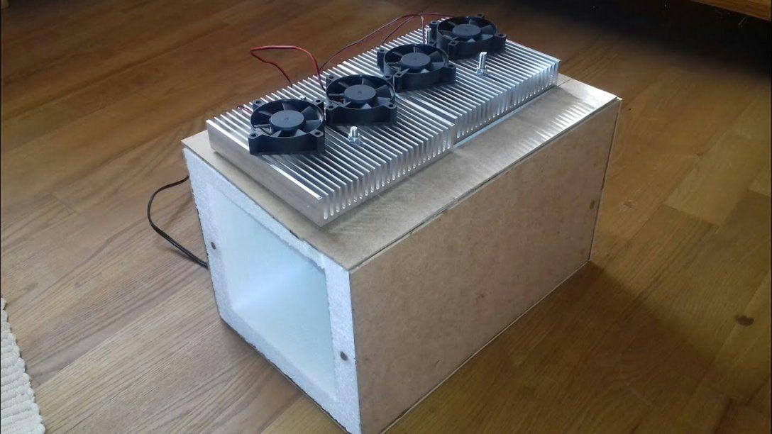 Doppel Kühlbox Selber Bauen (2 Peltierelemente) Diy Mini Kühlschrank von Peltier Element Kühlbox Selber Bauen Bild
