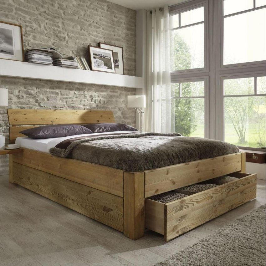 doppelbett kiefer massiv 180x200 haus design ideen. Black Bedroom Furniture Sets. Home Design Ideas