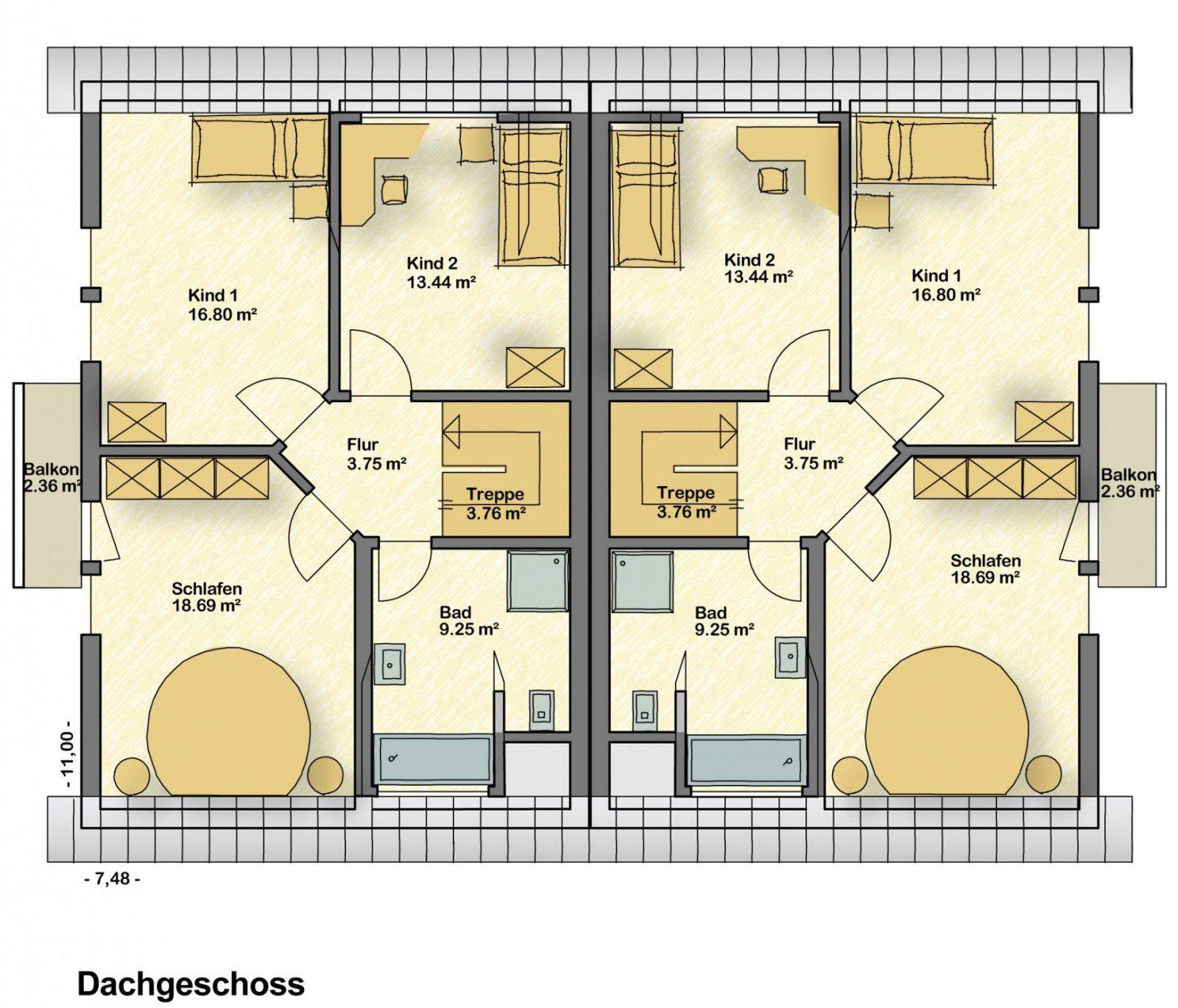 Doppelhaus Grundriss 180 von Doppelhaus Grundriss Eingang Seitlich Photo