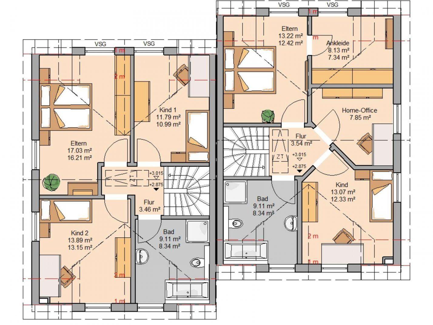 Doppelhaus Twin L Von Kernhaus  Ideal Für Kleine Grundstücke von Doppelhaus Grundriss Eingang Seitlich Photo