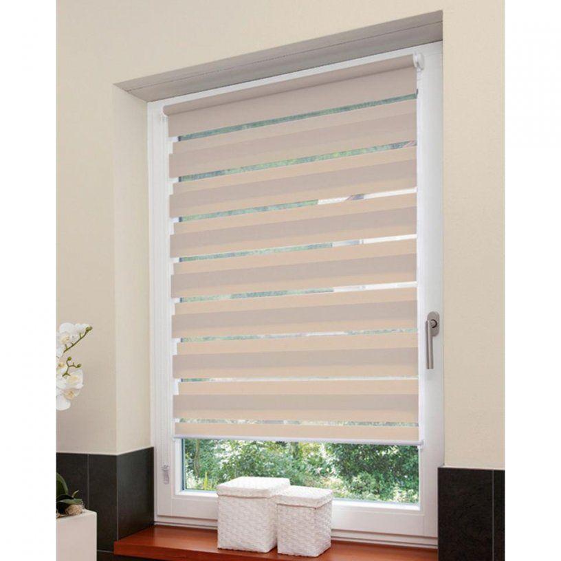 Doppelrollo (100X160 Natur) Preiswert  Dänisches Bettenlager von Fenster Rollo Zum Einhängen Photo