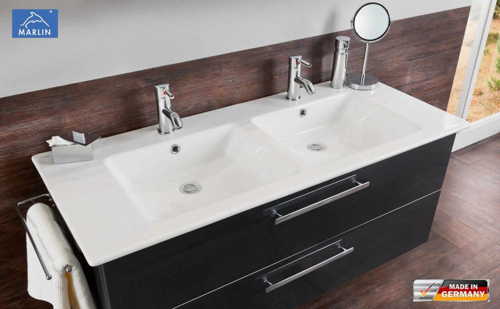 Doppelwaschtisch Keramik Mit Unterschrank  Gispatcher von Doppeltes Waschbecken Mit Unterschrank Photo