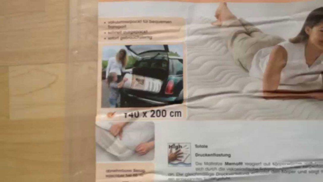 Dormia Viskoleastische Matratze Aldi Memofit In 140 X 200 2015  Youtube von Dormia Qualitäts-Matratze Memofit Photo