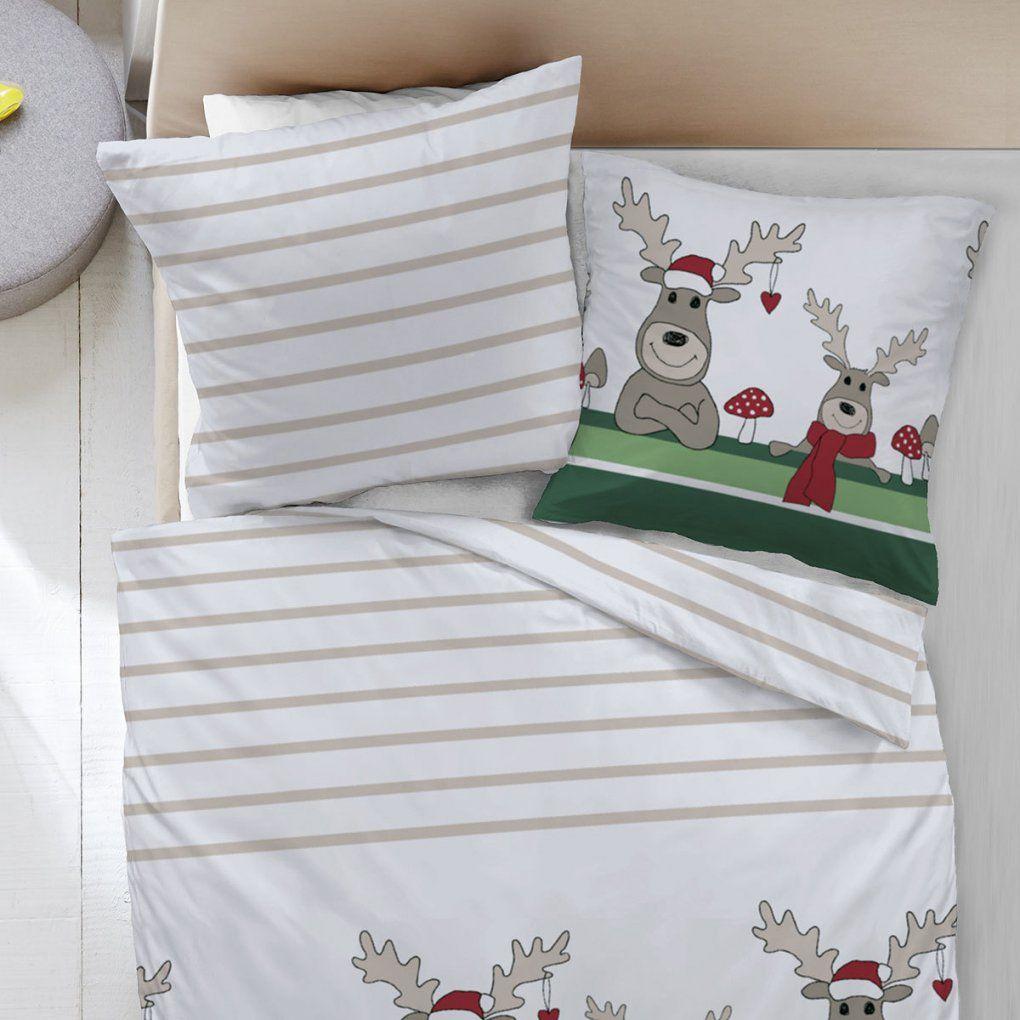 Dormisette Feinbiber Bettwäsche Elch Grün Günstig Online Kaufen Bei von Dormisette Feinbiber Bettwäsche Photo