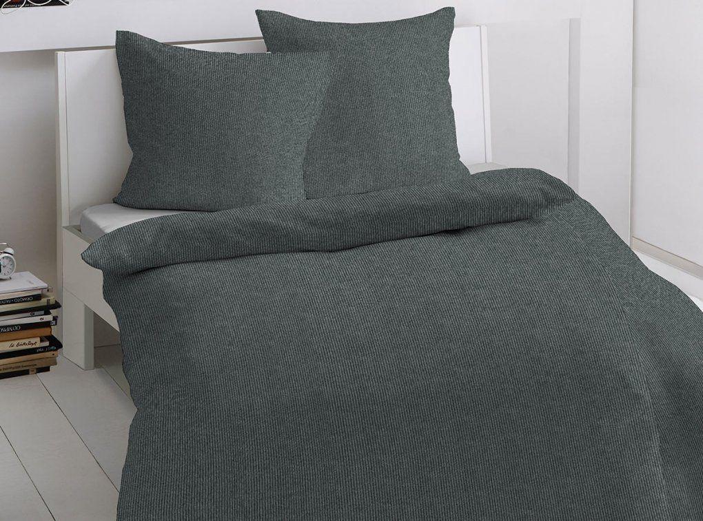 Dormisette Feinflanellbettwäsche Streifen Grau Bettenriese Von