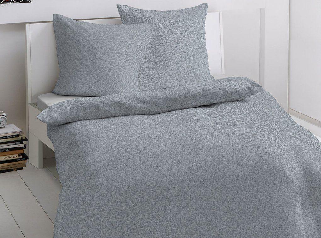 Dormisette Feinflanellbettwäsche Struktur Grau  Bettenriese von Dormisette Flanell Bettwäsche Bild