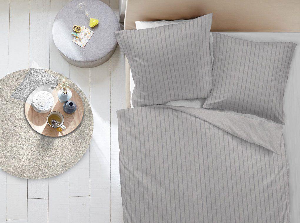 Dormisette Flanellbettwäsche Melange Silber  Bettenriese von Dormisette Biber Bettwäsche Bild