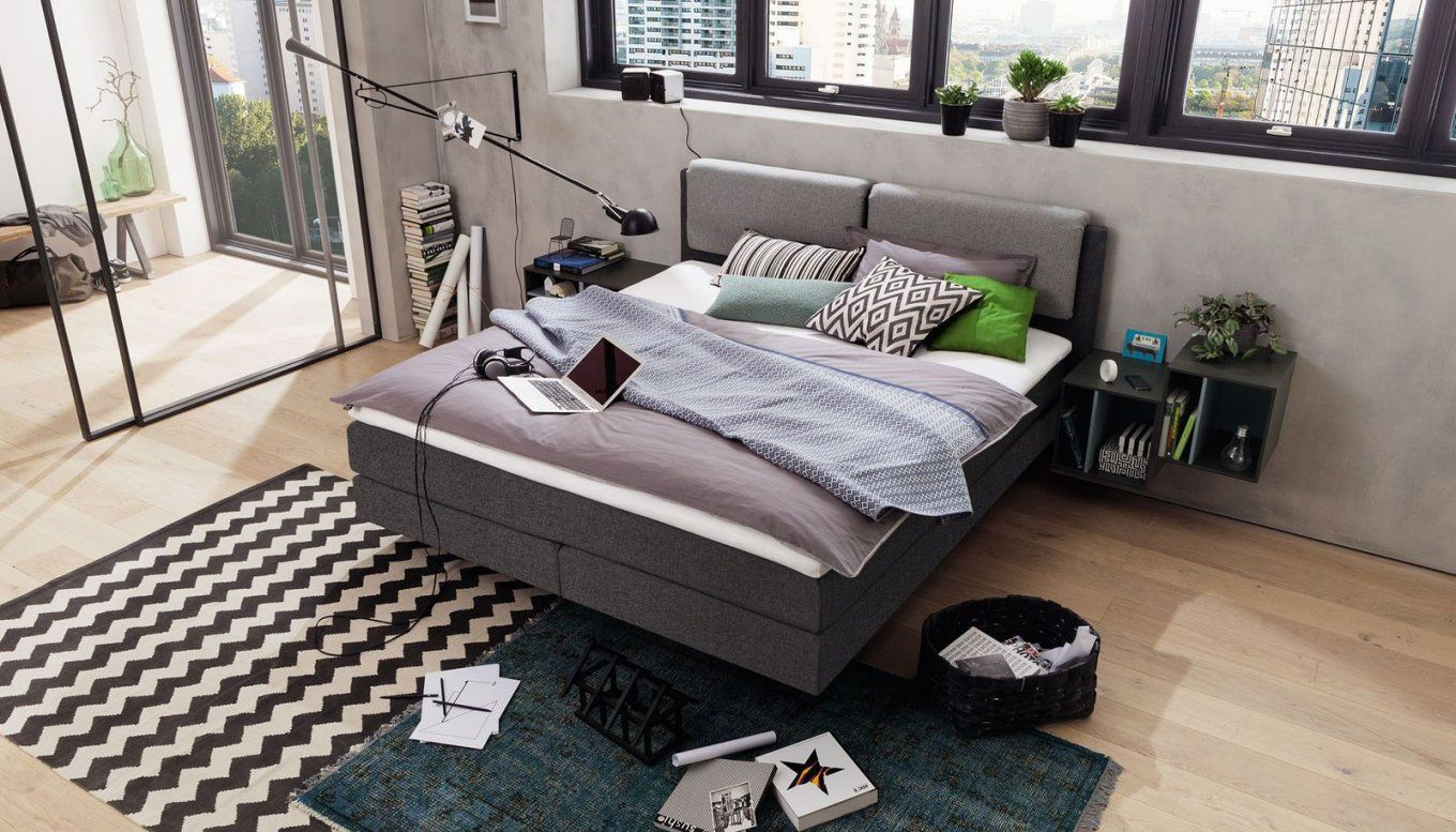 Double Bed  Contemporary  Upholstered  With Upholstered Headboard von Hülsta Now Boxspringbett Photo