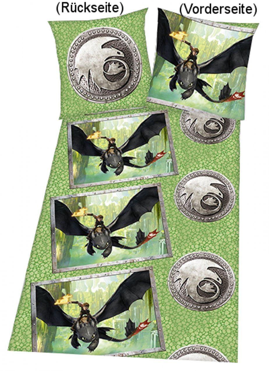 Drachenzähmen Leicht Gemacht Bettwäsche Grün von Drachenzähmen Leicht Gemacht Bettwäsche Photo