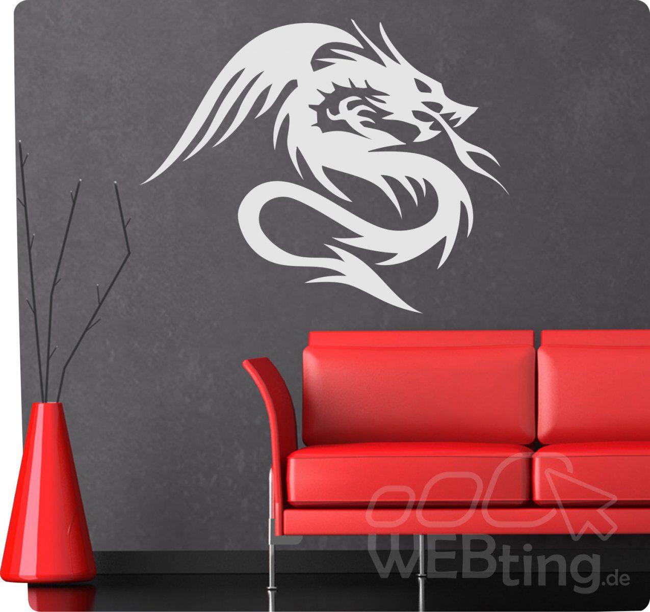 Dragon Drache Wandtattoo Wandfolie Wandaufkleber Aufkleber Tattoo von Aufkleber Für Die Wand Photo