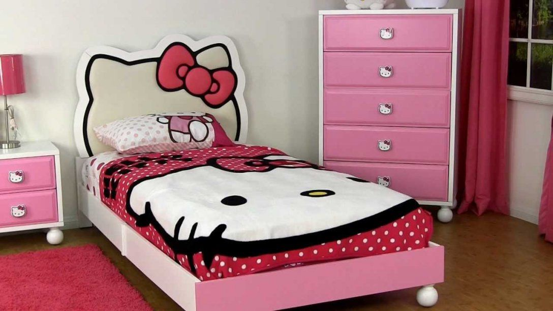 Dream Furniture  Hello Kitty Bedroom Furniture  Youtube von Hello Kitty Bed Frame Photo