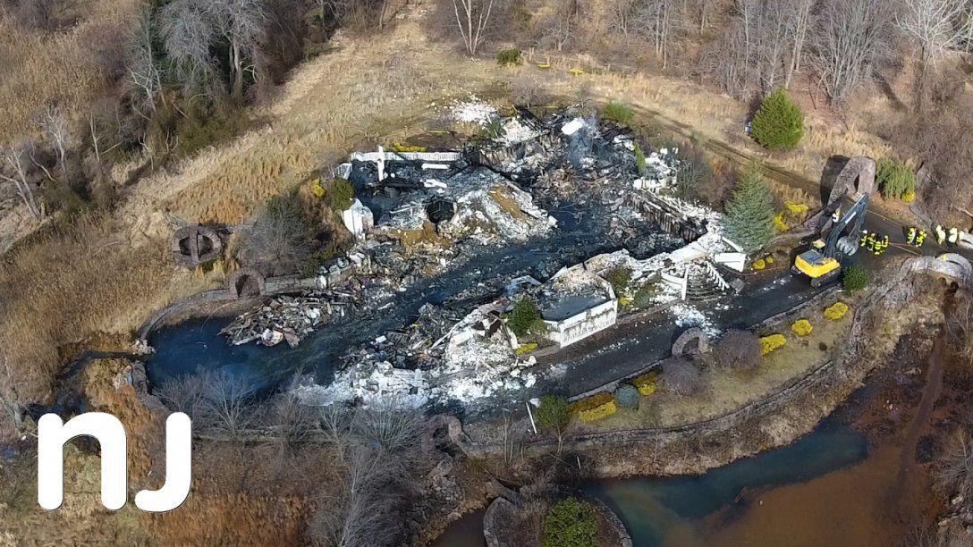 Drone Captures Burned Remains Of $8M Colts Neck Mansion  Youtube von Colts Neck Nj Mansion Bild