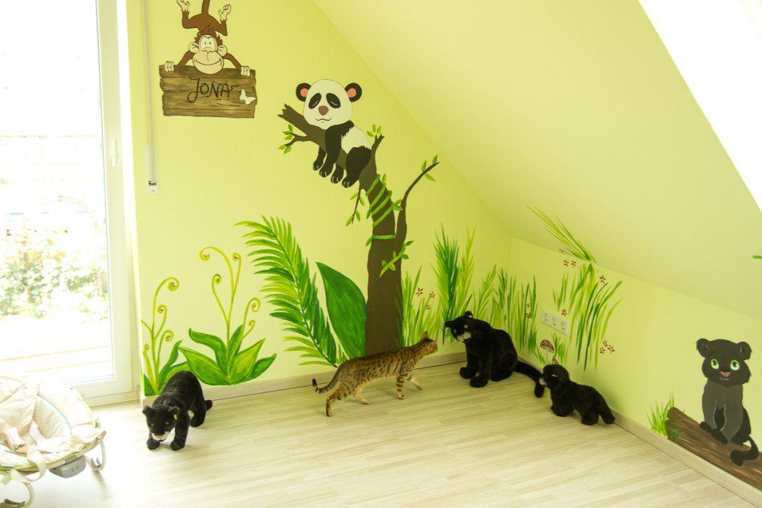 Dschungelkinderzimmer Diy  Mission Wohn(T)Raum von Wandbilder Kinderzimmer Selber Malen Photo