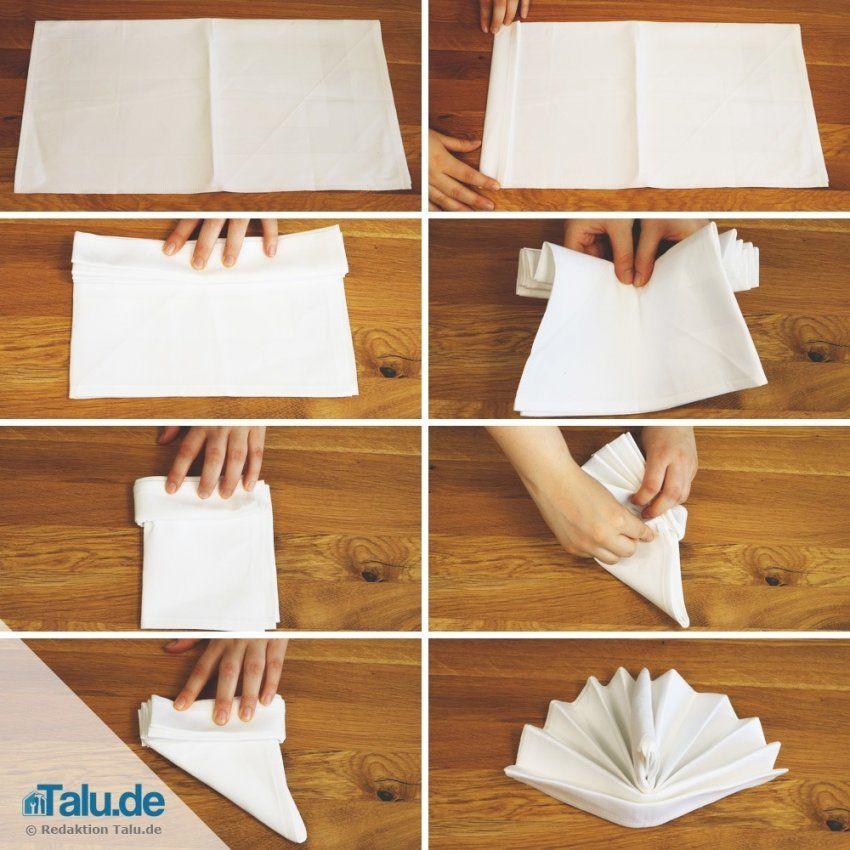 Duni Servietten Falten Mit Servietten Falten Zweifarbig Anleitung von Duni Servietten Falten Anleitung Bild