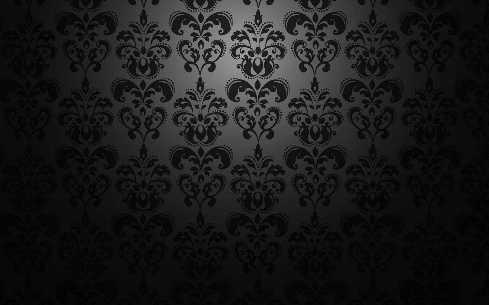 Dunkle schwarze muster tapete hd von schwarze tapete mit for Schwarze tapete