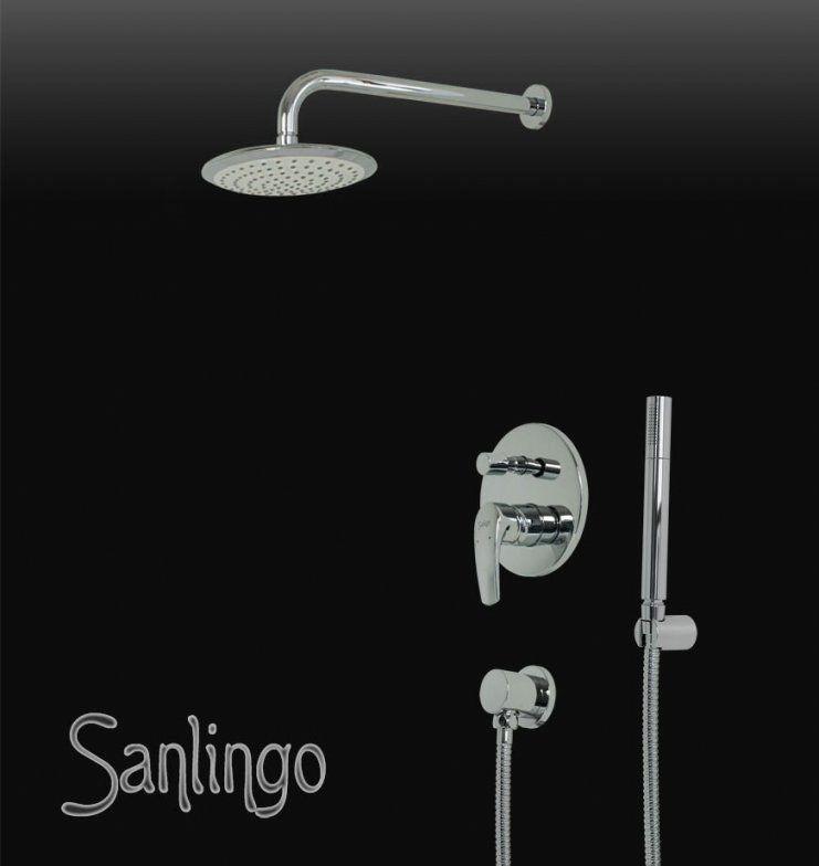 Dusch Set Komplett Regenschauer Arm Handbrause Unterputz Umsteller von Unterputz Armatur Dusche Set Bild