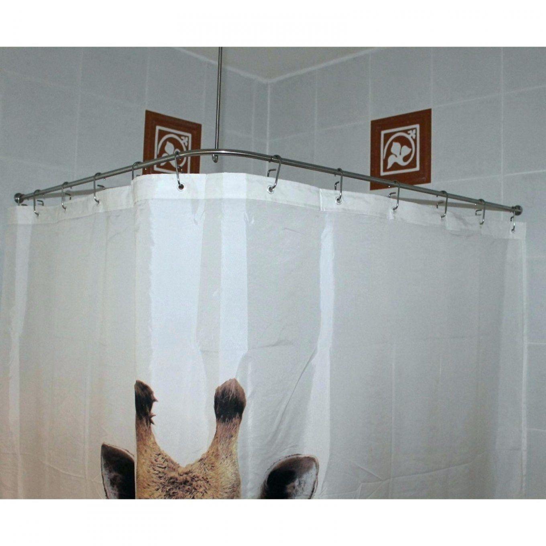 Duschstange Badewanne Duschvorhangstange L Form Bauhaus Gebogen Fur von Duschvorhangstange L Form Badewanne Bild