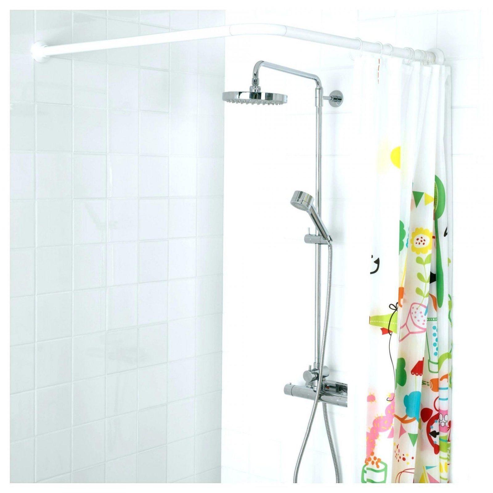 Duschvorhangstange Edelstahl Elegant Vikarn Ikea Von U Form von Duschvorhangstange Badewanne Ohne Bohren Photo