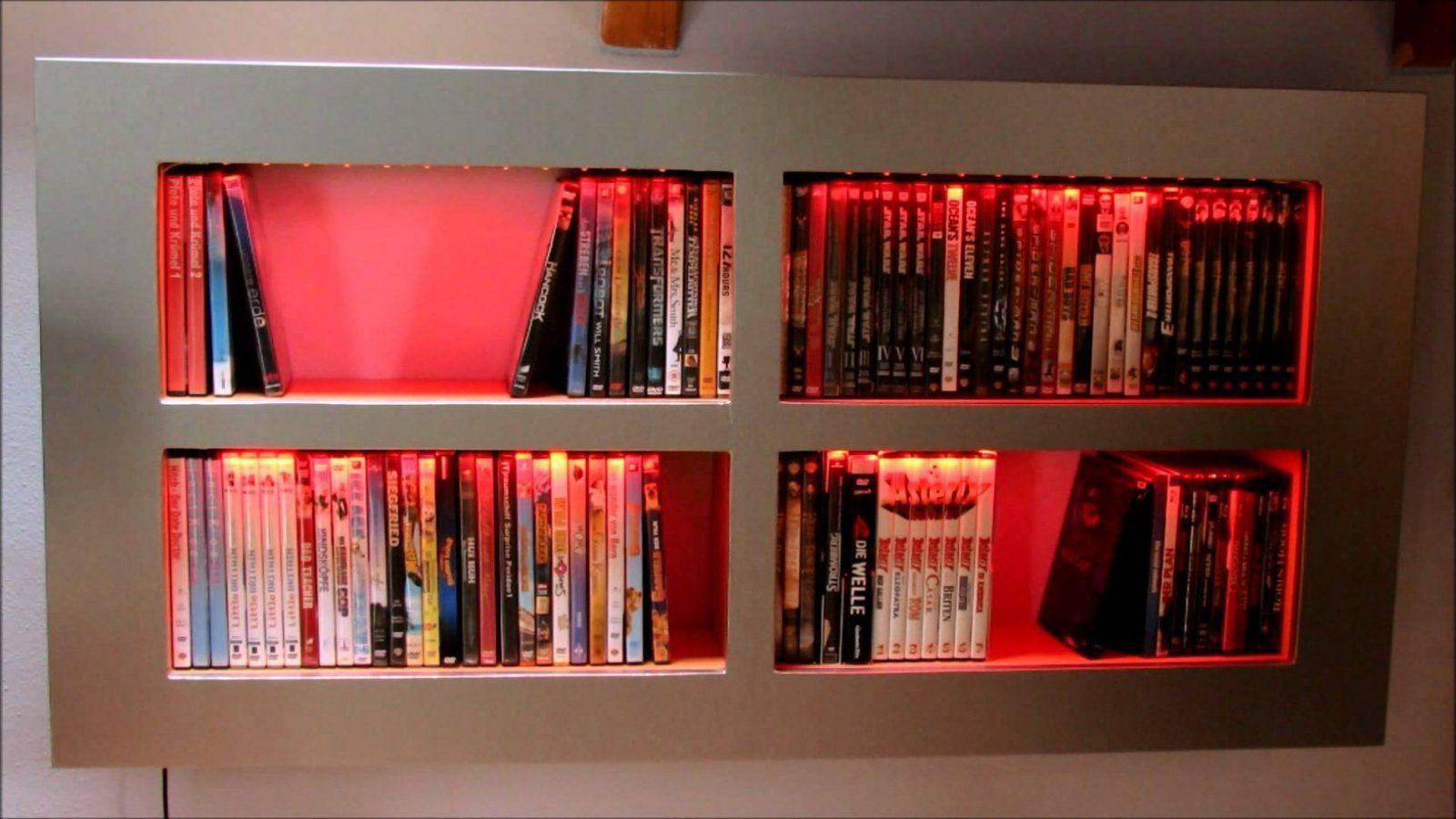 Dvdbluray Regal Selbstgebaut Mit Led Beleuchtung  Youtube von Blu Ray Regal Selber Bauen Bild