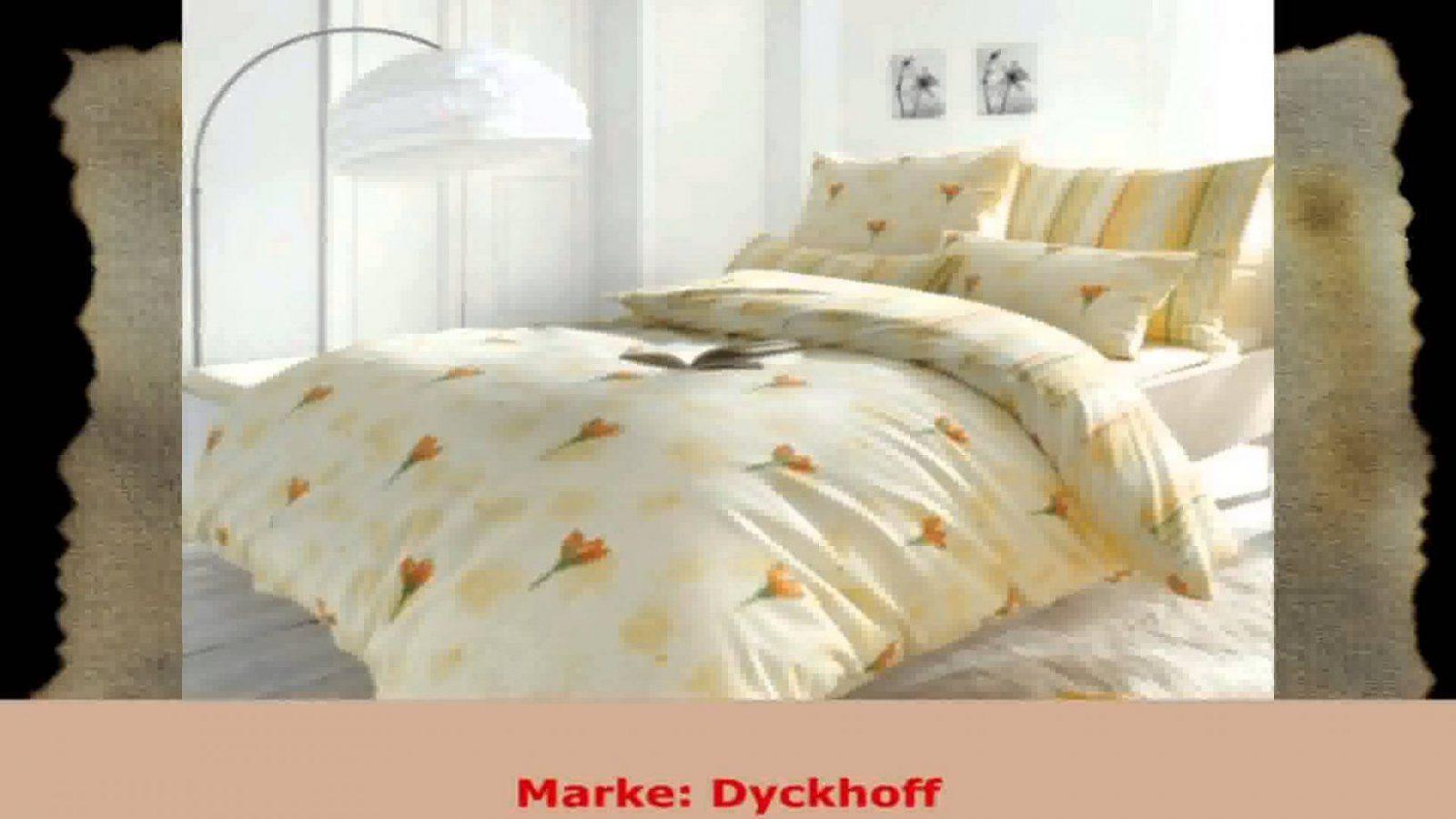 Dyckhoff Frottee Bettwäsche Tulipe Gelb 155X220 Cm 80X80 Cm  Youtube von Dyckhoff Frottee Bettwäsche Photo