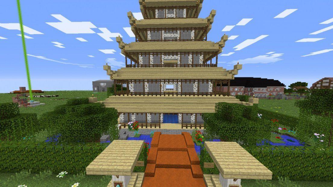 ᐅ Asien Haus Mit Garten In Minecraft Bauen  Minecraftbauideen von Minecraft Schönes Haus Bauen Bild