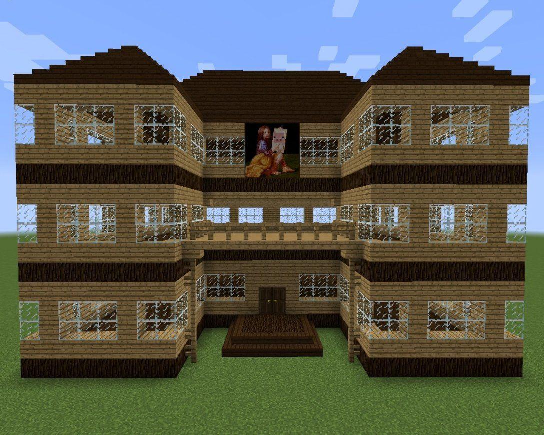ᐅ Holzvilla In Minecraft Bauen  Minecraftbauideen von Coole Minecraft Häuser Zum Nachbauen Bild