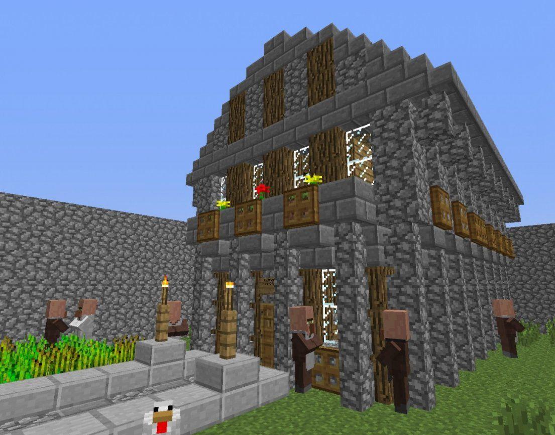 ᐅ Mittelalterhaus In Minecraft Bauen  Minecraftbauideen von Minecraft Mittelalter Haus Bauplan Photo