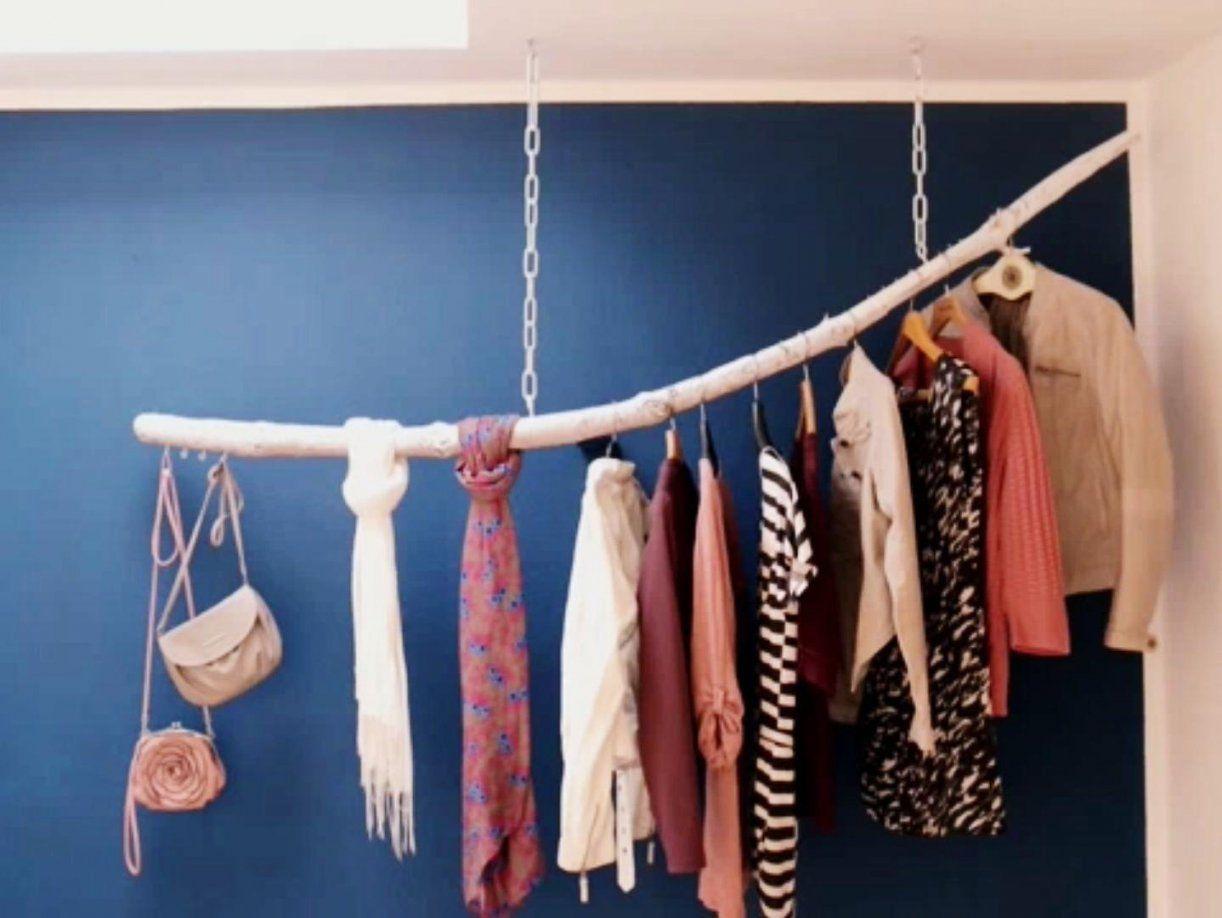 ᐅᐅ】 Kleiderstange Aus Einem Ast Selber Bauen  Diy + Shop von Kleiderstange Aus Holz Selber Bauen Bild