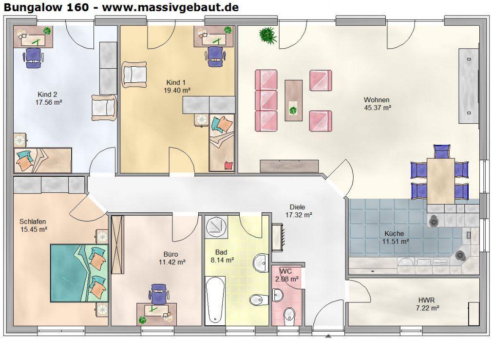 √ Grundriss Einfamilienhaus 160 Qm Einzigartig Bungalow 160 Qm von Grundriss Bungalow 160 Qm Bild