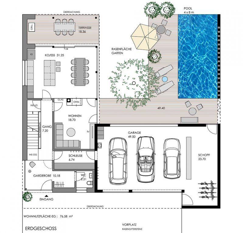 √ Haus L Form Frisch Unserhaus  Haus Mit Pool  Sooneyo von Haus L Form Grundriss Photo