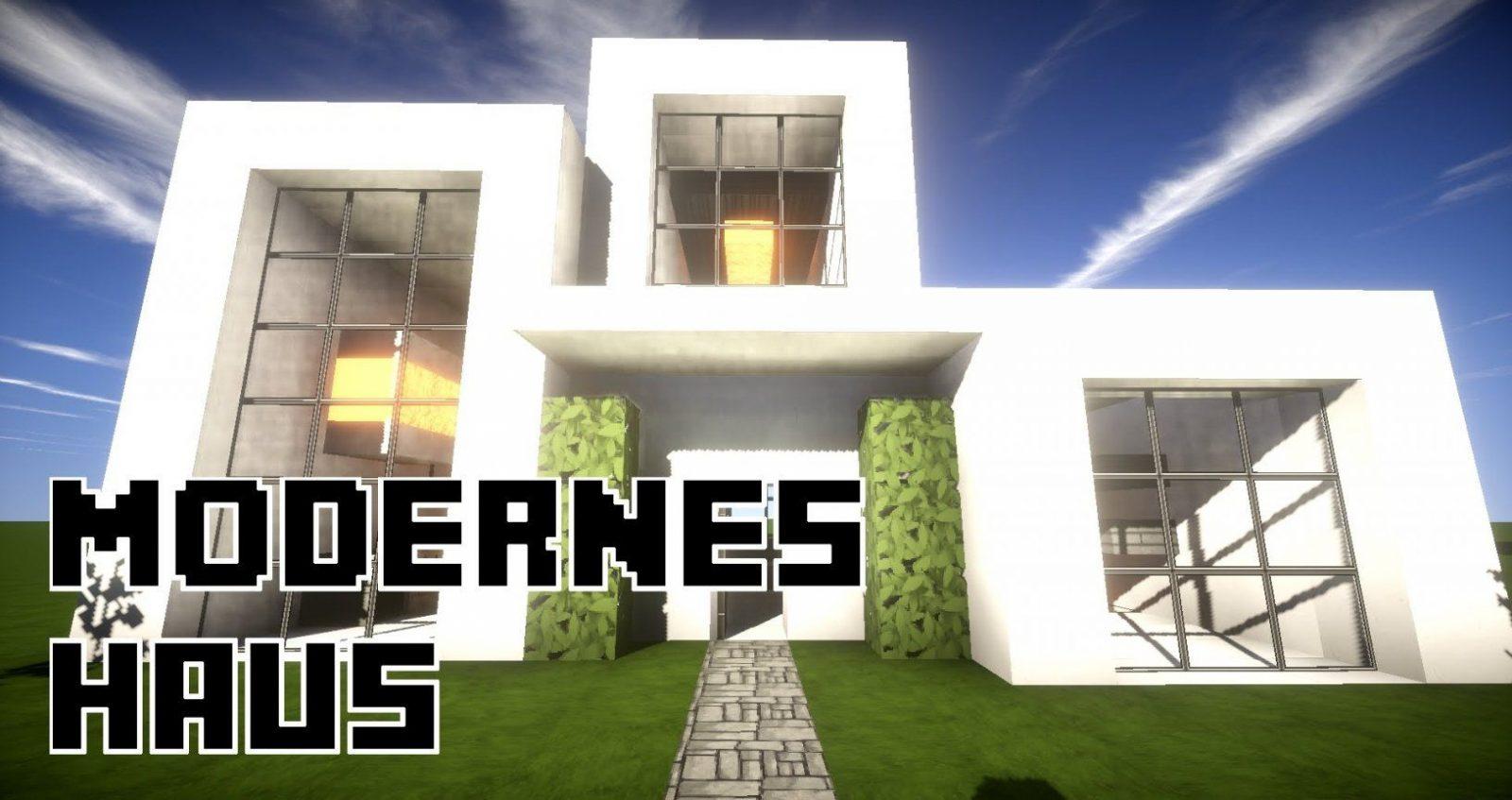 Moderne Hauser Bauen Dasbesteaus Minecraft Modernes Grosses Haus