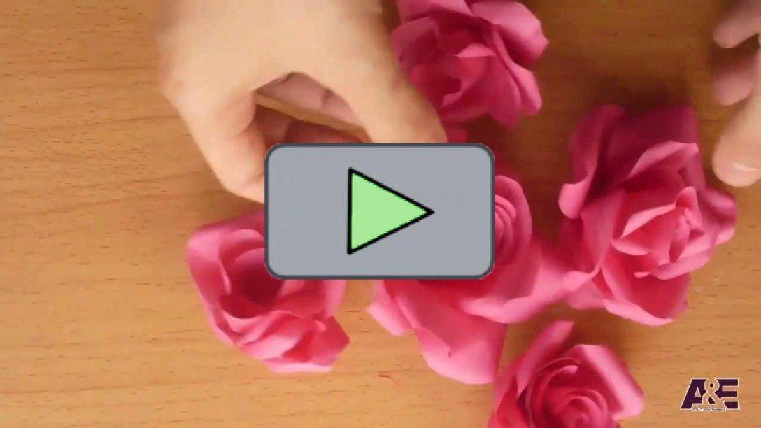 ▷Ganz Einfache Tolle Rosen Aus Papier Basteln  Schlaumich Videos von Rose Basteln Papier Anleitung Photo