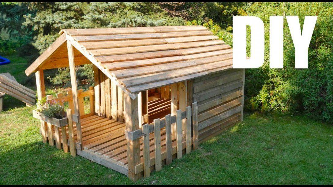 ☆ Spielhaus  Gartenhaus Für Kinder ☆ Selber Bauen Aus Paletten von Kinder Holzhaus Selber Bauen Bild