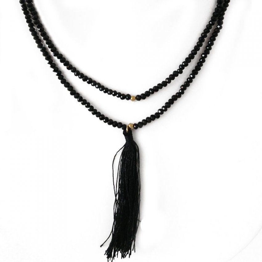 ❤ Inrosa  Lange Halskette Oder Wickelarmband Mit Quaste von Lange Kette Mit Quaste Photo