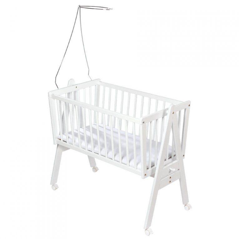 Easy Baby Wiege Weiß Inkl Matratze Und Himmelhalter  Babymarkt von Matratze Babywiege 40 X 90 Bild